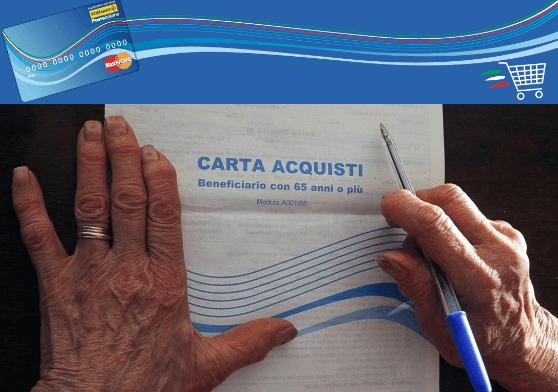 Carta acquisti 40 euro al mese in supporto ad anziani e for Requisiti carta di soggiorno 2017